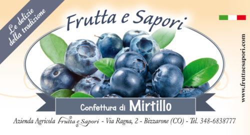 Confettura extra di MIRTILLO 240 gr
