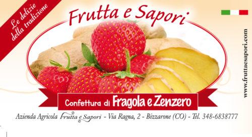 Confettura extra di FRAGOLA e ZENZERO 240 gr