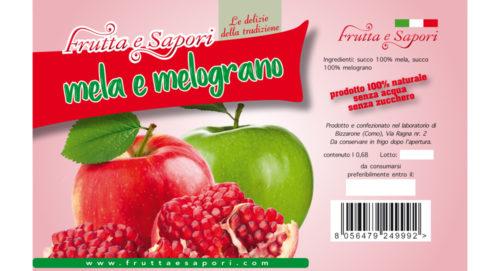 Succo 100% di mela e melograno 680ml