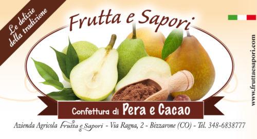 Confettura extra di PERA E CACAO 240 gr