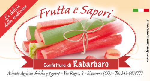 Confettura extra di RABARBARO 240 gr