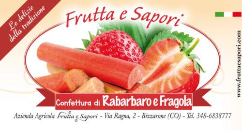 Confettura extra di FRAGOLA E RABARBARO 240 gr